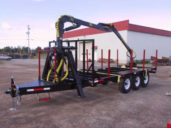 Log Grapple Trailer 10 ton tri-axle